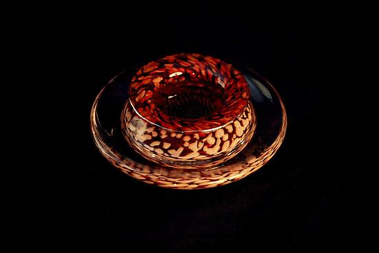 Ikebana Bowl (Transparent Ruby)