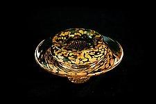 Ikebana Bow (Transparent Lime) by Danielle Blade and Stephen Gartner (Art Glass Vase)