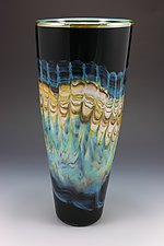 Black Opal Cone by Danielle Blade and Stephen Gartner (Art Glass Vase)
