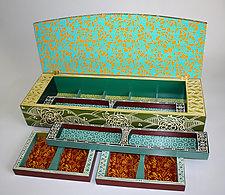 Green Rose Jewelry Box by Jenna Goldberg (Wood Jewelry Box)