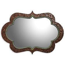 Bronze Cora Mirror by Angie Heinrich (Mosaic Mirror)