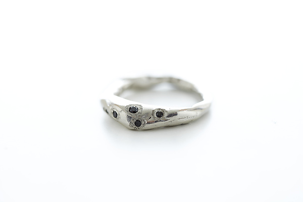 Stone Ring with Diamonds