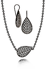 Modern Vintage Pear Set by Diana Widman (Silver & Stone Jewelry)