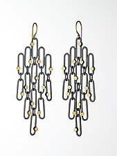 Large Confetti Earrings by Heather Guidero (Gold & Silver Earrings)