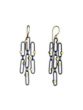 Small Confetti Earrings by Heather Guidero (Gold & Silver Earrings)