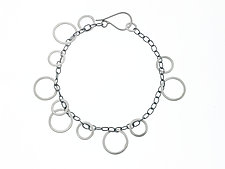 Circle Bunches Bracelet by Heather Guidero (Silver Bracelet)