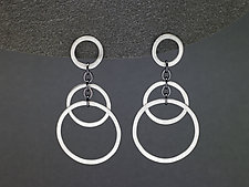 Small Circle Bunches Earrings by Heather Guidero (Silver Earrings)