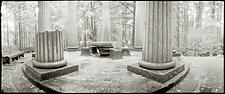 Mausoleum - Roche Harbor by Mel Curtis (Black & White Photograph)