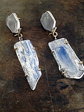 Kyanite Earrings by Lauren Blais (Gold, Silver & Stone Earrings)