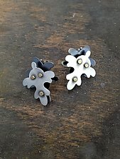 Wallpaper Riveted Stud Earrings by Lauren Blais (Gold & Silver Earrings)