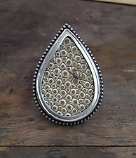 Stingray Leather Ring by Lauren Blais (Silver, Stone, & Leather Ring)