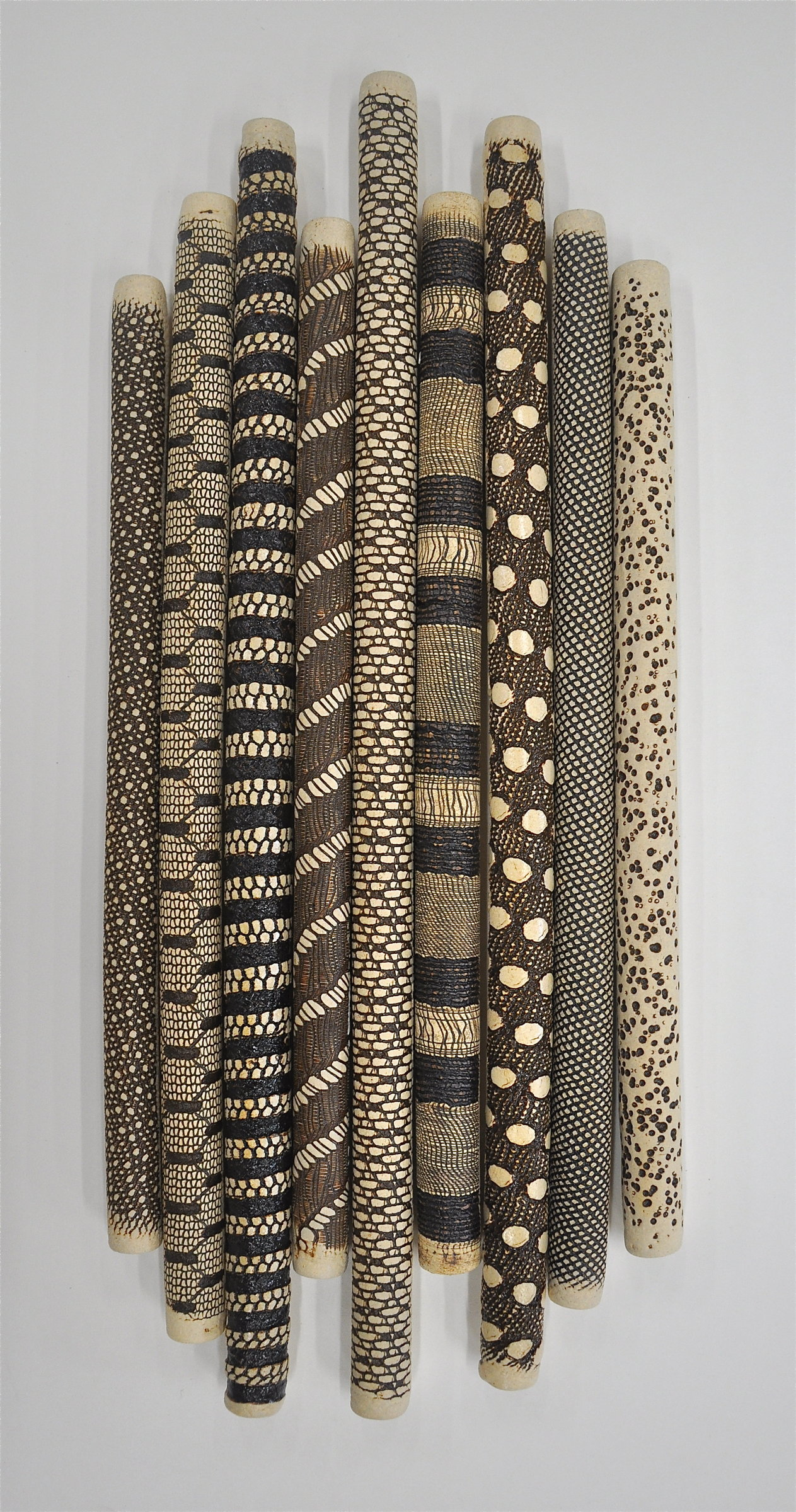9 piece installation by kelly jean ohl ceramic wall for Ceramic wall art