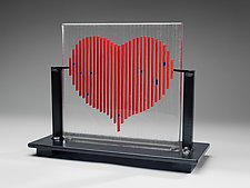 Heart by Ernest Porcelli (Art Glass Sculpture)