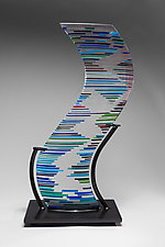 Big Curve by Ernest Porcelli (Art Glass Sculpture)
