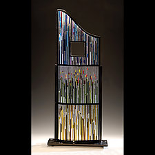 Landscape with Window by Ernest Porcelli (Art Glass Sculpture)