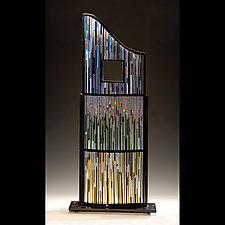 Landscape with Window by Ernest Porcelli (Art Glass Sculpture)