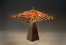 Thread Lamp by Ernest Porcelli (Art Glass Table Lamp`)