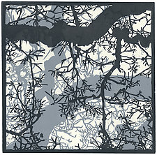Winter Sky by Barbara  Stikker (Linocut Print)