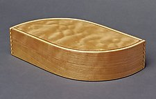 Cherry Wave Box with Quilted Maple Top by Andrew Pitts (Wood Box)