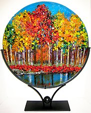 Lakeside Woods by Anne Nye (Art Glass Sculpture)