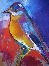 New Bird in Town by Joan Skogsberg Sanders (Pastel Painting)