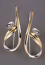 Bantam Earrings by Nancy Linkin (Gold & Silver Earrings)