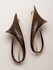 Lily Earrings by Nancy Linkin (Bronze Earrings)