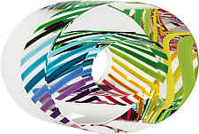 Ellipse Multi Paperweight by Paul D. Harrie (Art Glass Paperweight)
