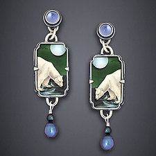 Polar Bear Earrings by Dawn Estrin (Silver Earrings)