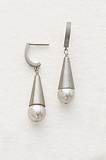 Pearl Cone Earrings by Claudia Endler (Silver & Pearl Earrings)