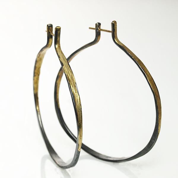 Gold and Silver Splash Hoops