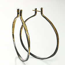 Gold and Silver Splash Hoops by Ayesha Mayadas (Gold & Silver Earrings)
