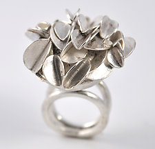 Large Desert Rose Ring by Lori Gottlieb (Silver Ring)
