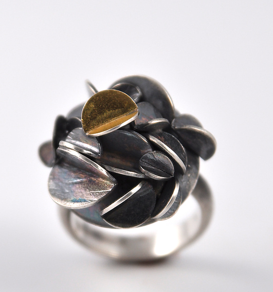 Medium Oxidized Desert Rose Ring