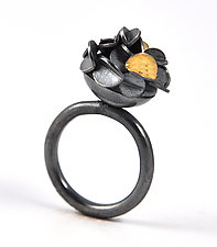 Small Oxidized Desert Rose Ring by Lori Gottlieb (Gold & Silver Ring)