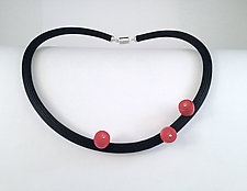 Coral Trio by Dagmara Costello (Stone & Rubber Necklace)