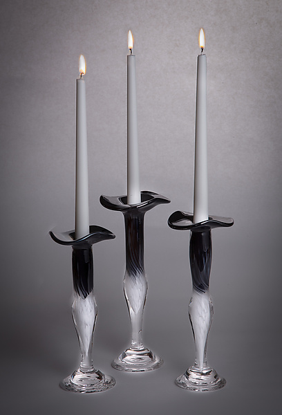 Black and White Jewel Candlestick