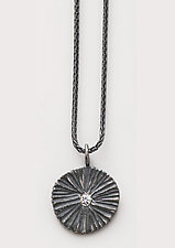 Small Shield Necklace by Dahlia Kanner (Silver Necklace)