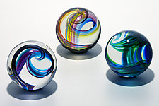 Oversized Glass Marbles by Michael Trimpol and Monique LaJeunesse (Art Glass Marbles)