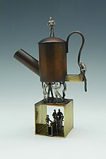 Tea He by Mary Ann Owen and Malcolm  Owen (Metal Teapot)