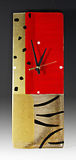 Jungle Red by Nina  Cambron (Art Glass Clock)