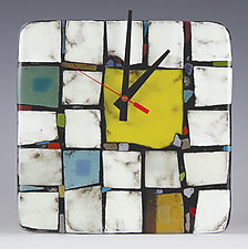 Tribeca: Yellow by Nina  Cambron (Art Glass Clock)