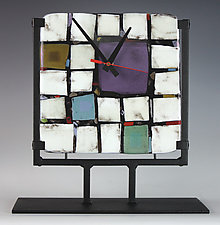 Tribeca: Purple by Nina  Cambron (Art Glass Clock)