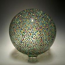 Pointillist Sphere by David Patchen (Art Glass Sculpture)