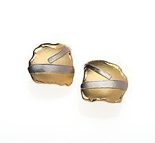 Platinum Stripe Earrings by Alexan Cerna (Platinum & Gold Earrings)