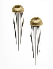14kt Yellow Gold and Silver Earrings by Alexan Cerna (Gold & Silver Earrings)