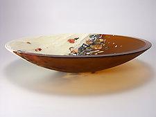 Riverstone Series Bowl - Amber by Flo Ulrich Becker (Art Glass Bowl)