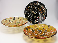 Riverstone Matrix Bowl by Flo Ulrich Becker (Art Glass Bowl)