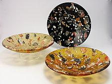 Riverstone Matrix Bowl by Flo Ulrich Becker (Art Glass Bowl)