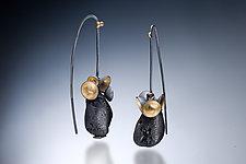 Earrings with Raw Tourmaline by Nina Mann (Gold, Silver & Stone Earrings)